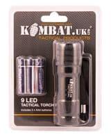 KOMBAT UK 9 LED TACTICAL TORCH